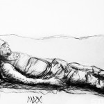 Sketch: Charcoal Bodies - Dad Napping