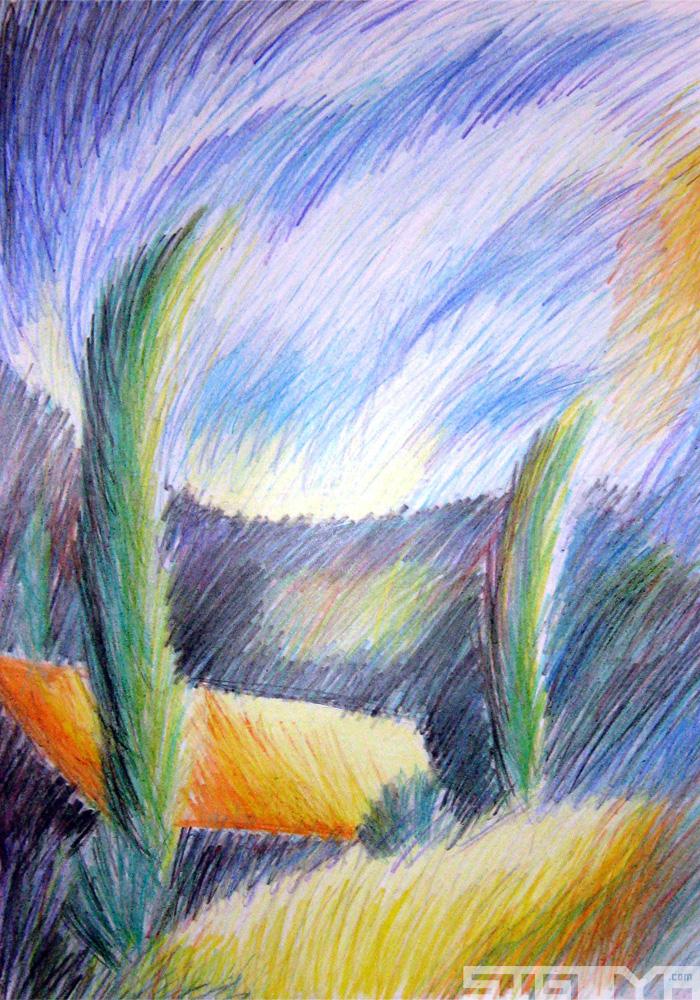 illustration colored pencil studies sigoya