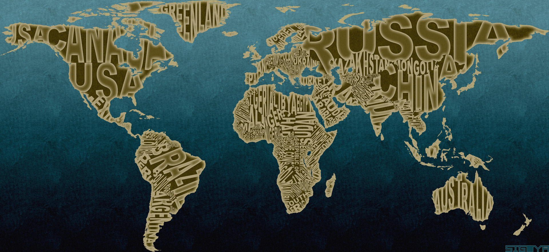 Design typographic world map sigoya design typographic world map gumiabroncs Gallery